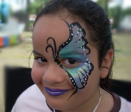 Half Butterfly Face Painting