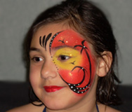 Tropical Paradise Face Painting