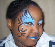 Blue Beauty Face Painting